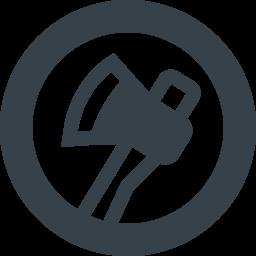 木こりの斧の無料アイコン素材 3 商用可の無料 フリー のアイコン素材をダウンロードできるサイト Icon Rainbow