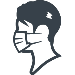マスクをした男性のアイコン素材 商用可の無料 フリー のアイコン素材をダウンロードできるサイト Icon Rainbow