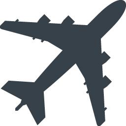 ジャンボジェットのシルエット無料アイコン素材 1 商用可の無料 フリー のアイコン素材をダウンロードできるサイト Icon Rainbow