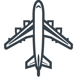 大型旅客機 飛行機 の無料アイコン素材 1 商用可の無料 フリー のアイコン素材をダウンロードできるサイト Icon Rainbow