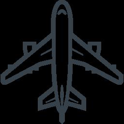 大型旅客機 飛行機 の無料アイコン素材 2 商用可の無料 フリー のアイコン素材をダウンロードできるサイト Icon Rainbow