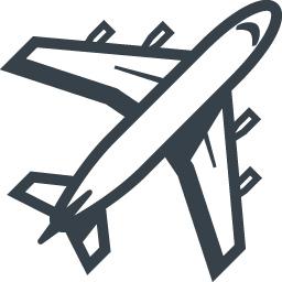 大型旅客機 飛行機 の無料アイコン素材 6 商用可の無料 フリー のアイコン素材をダウンロードできるサイト Icon Rainbow