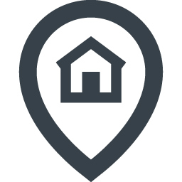 現在地の家マークアイコン素材 2 商用可の無料 フリー のアイコン素材をダウンロードできるサイト Icon Rainbow