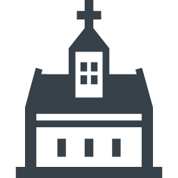 教会の建物アイコン素材 14 商用可の無料 フリー のアイコン素材をダウンロードできるサイト Icon Rainbow
