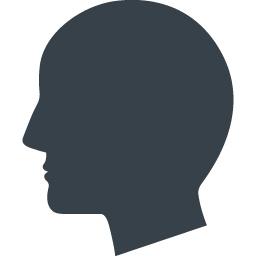 横向きの頭のシルエットアイコン素材 商用可の無料 フリー のアイコン素材をダウンロードできるサイト Icon Rainbow