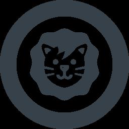 かわいいライオンの無料アイコン素材 2 商用可の無料 フリー のアイコン素材をダウンロードできるサイト Icon Rainbow