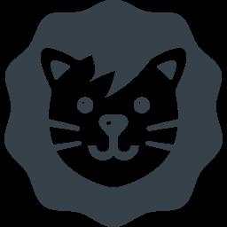かわいいライオンの無料アイコン素材 1 商用可の無料 フリー のアイコン素材をダウンロードできるサイト Icon Rainbow