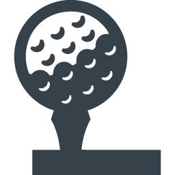 ゴルフボールとティーの無料アイコン素材 商用可の無料 フリー のアイコン素材をダウンロードできるサイト Icon Rainbow