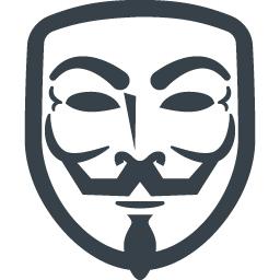 アノニマスの仮面の無料アイコン素材 1 商用可の無料 フリー のアイコン素材をダウンロードできるサイト Icon Rainbow