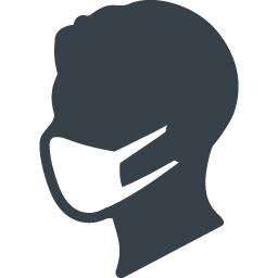 マスクした人の無料アイコン素材 1 商用可の無料 フリー のアイコン素材をダウンロードできるサイト Icon Rainbow