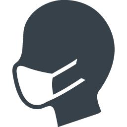 マスクした人の無料アイコン素材 2 商用可の無料 フリー のアイコン素材をダウンロードできるサイト Icon Rainbow