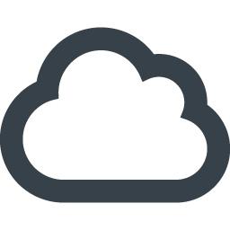 クラウドマークの無料アイコン素材 4 商用可の無料 フリー のアイコン素材をダウンロードできるサイト Icon Rainbow