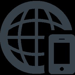 スマートフォンと地球の無料アイコン素材 商用可の無料 フリー のアイコン素材をダウンロードできるサイト Icon Rainbow