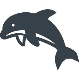 イルカの無料アイコン素材 2 商用可の無料 フリー のアイコン素材をダウンロードできるサイト Icon Rainbow