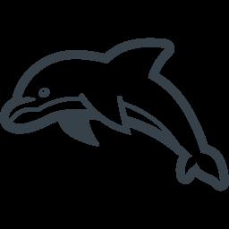 イルカの無料アイコン素材 3 商用可の無料 フリー のアイコン素材をダウンロードできるサイト Icon Rainbow