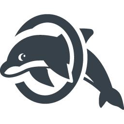 イルカの輪くぐりの無料アイコン素材 1 商用可の無料 フリー のアイコン素材をダウンロードできるサイト Icon Rainbow