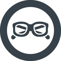 黒縁眼鏡の無料アイコン素材 2 商用可の無料 フリー のアイコン素材をダウンロードできるサイト Icon Rainbow
