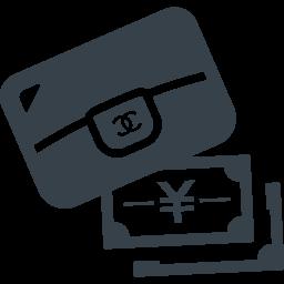 高級ブランド風の財布とお金の無料アイコン素材 1 商用可の無料 フリー のアイコン素材をダウンロードできるサイト Icon Rainbow