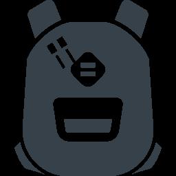 シンプルなリュックサックの無料アイコン素材 2 商用可の無料 フリー のアイコン素材をダウンロードできるサイト Icon Rainbow