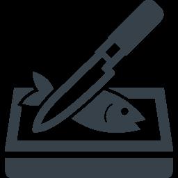 包丁を使った魚の調理の無料アイコン素材 商用可の無料 フリー のアイコン素材をダウンロードできるサイト Icon Rainbow