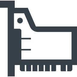 Pciバススロットにいれる拡張カードの無料アイコン素材 1 商用可の無料 フリー のアイコン素材をダウンロードできるサイト Icon Rainbow