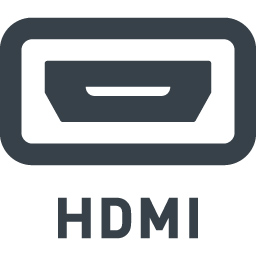 Hdmi端子の接続口の無料アイコン素材 1 商用可の無料 フリー のアイコン素材をダウンロードできるサイト Icon Rainbow