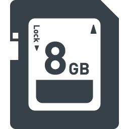Sdカードの無料アイコン素材 1 商用可の無料 フリー のアイコン素材をダウンロードできるサイト Icon Rainbow