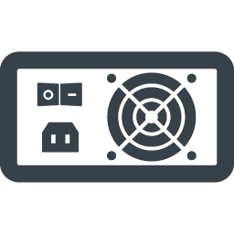 パソコンの電源ユニット ボックス の無料アイコン素材 1 商用可の無料 フリー のアイコン素材をダウンロードできるサイト Icon Rainbow