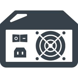 パソコンの電源ユニット ボックス の無料アイコン素材 3 商用可の無料 フリー のアイコン素材をダウンロードできるサイト Icon Rainbow
