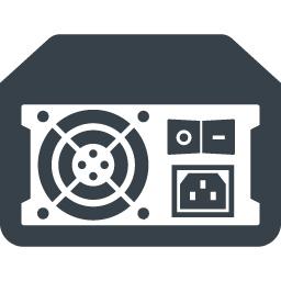 パソコンの電源ユニット ボックス の無料アイコン素材 4 商用可の無料 フリー のアイコン素材をダウンロードできるサイト Icon Rainbow