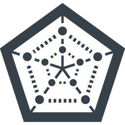 5角形のグラフ レーダーチャート の無料アイコン素材 5 商用可の無料 フリー のアイコン素材をダウンロードできるサイト Icon Rainbow