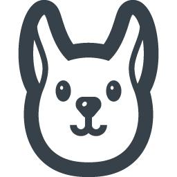 ウサギの無料アイコン素材 2 商用可の無料 フリー のアイコン素材をダウンロードできるサイト Icon Rainbow