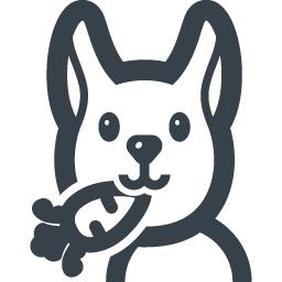 ニンジンを咥えているウサギの無料アイコン 商用可の無料 フリー のアイコン素材をダウンロードできるサイト Icon Rainbow