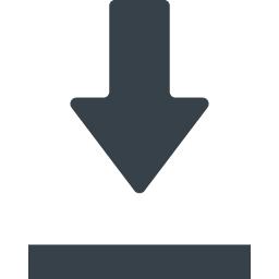 シンプルなダウンロードマークのアイコン素材 1 商用可の無料 フリー のアイコン素材をダウンロードできるサイト Icon Rainbow