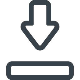 シンプルなダウンロードマークのアイコン素材 2 商用可の無料 フリー のアイコン素材をダウンロードできるサイト Icon Rainbow