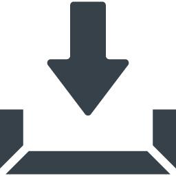 シンプルなダウンロードマークのアイコン素材 3 商用可の無料 フリー のアイコン素材をダウンロードできるサイト Icon Rainbow