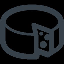 丸いチーズの無料アイコン素材 3 商用可の無料 フリー のアイコン素材をダウンロードできるサイト Icon Rainbow