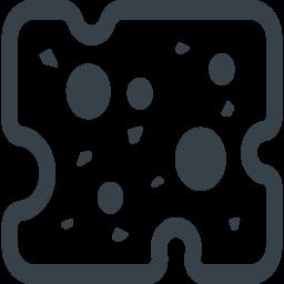 スライスしたチーズの無料アイコン素材 2 商用可の無料 フリー のアイコン素材をダウンロードできるサイト Icon Rainbow