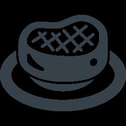 ステーキの無料アイコン素材 2 商用可の無料 フリー のアイコン素材をダウンロードできるサイト Icon Rainbow