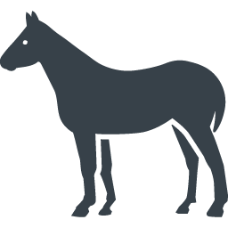 馬のシルエットの無料アイコン素材 1 商用可の無料 フリー のアイコン素材をダウンロードできるサイト Icon Rainbow