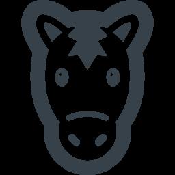 かわいい馬の無料アイコン素材 1 商用可の無料 フリー のアイコン素材をダウンロードできるサイト Icon Rainbow