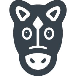 かわいい馬の無料アイコン素材 2 商用可の無料 フリー のアイコン素材をダウンロードできるサイト Icon Rainbow