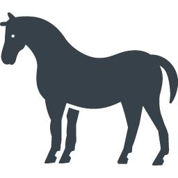 馬のシルエットの無料アイコン素材 2 商用可の無料 フリー のアイコン素材をダウンロードできるサイト Icon Rainbow