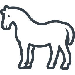 馬のシルエットの無料アイコン素材 3 商用可の無料 フリー のアイコン素材をダウンロードできるサイト Icon Rainbow