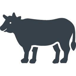 牛のシルエットの無料アイコン 2 商用可の無料 フリー のアイコン素材をダウンロードできるサイト Icon Rainbow
