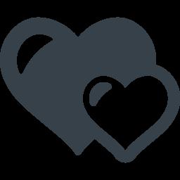大小ハートの無料アイコン素材 商用可の無料 フリー のアイコン素材をダウンロードできるサイト Icon Rainbow