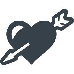 ハートに矢がささって恋に落ちましたの無料アイコン 1 商用可の無料 フリー のアイコン素材をダウンロードできるサイト Icon Rainbow