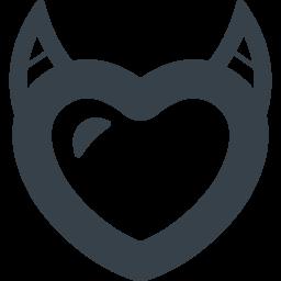 角の生えたハートの無料アイコン 商用可の無料 フリー のアイコン素材をダウンロードできるサイト Icon Rainbow