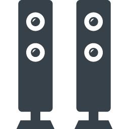 サラウンドスピーカーの無料アイコン素材 商用可の無料 フリー のアイコン素材をダウンロードできるサイト Icon Rainbow