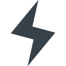 電気 カミナリマークの無料アイコン素材 1 商用可の無料 フリー のアイコン素材をダウンロードできるサイト Icon Rainbow